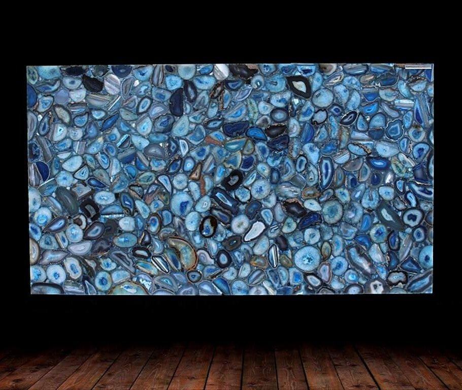 Blue Agate Semi Precious Gemstone