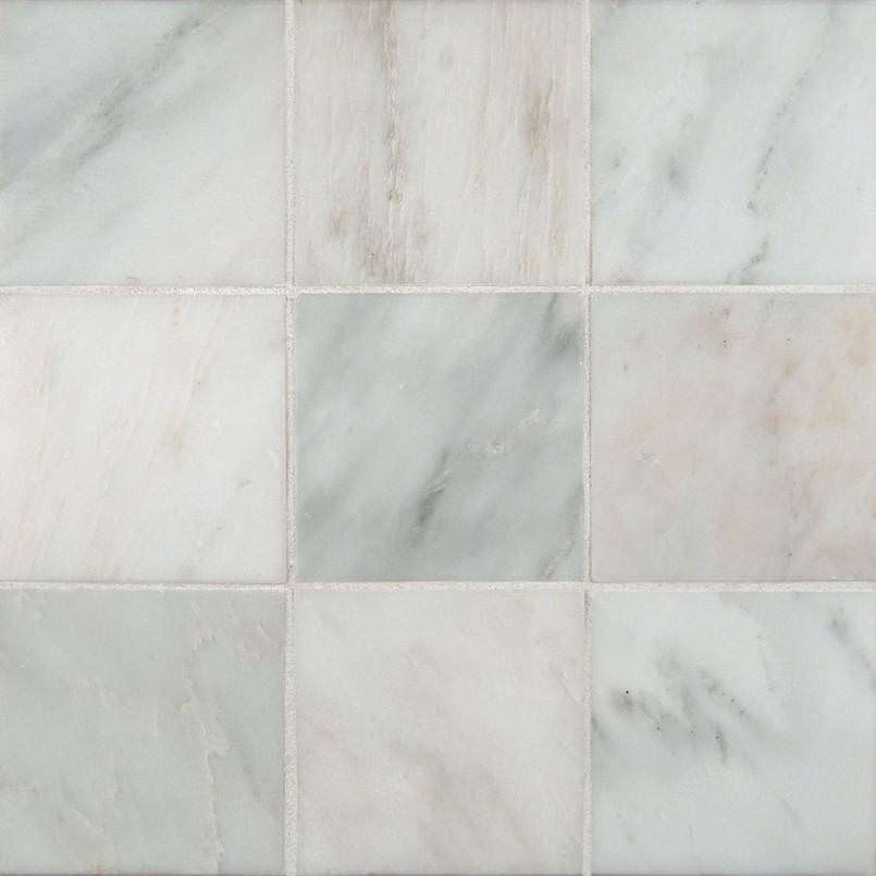 Arabescato Cararra 4×4 Honed And Beveled Tile