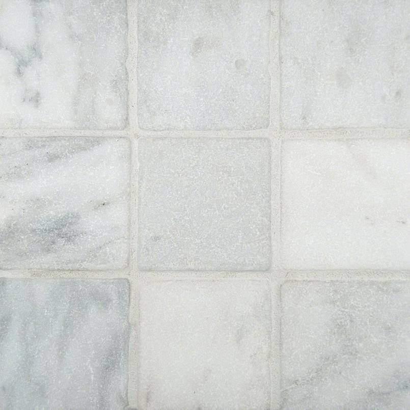 Arabescato Cararra 4×4 Tumbled Tile