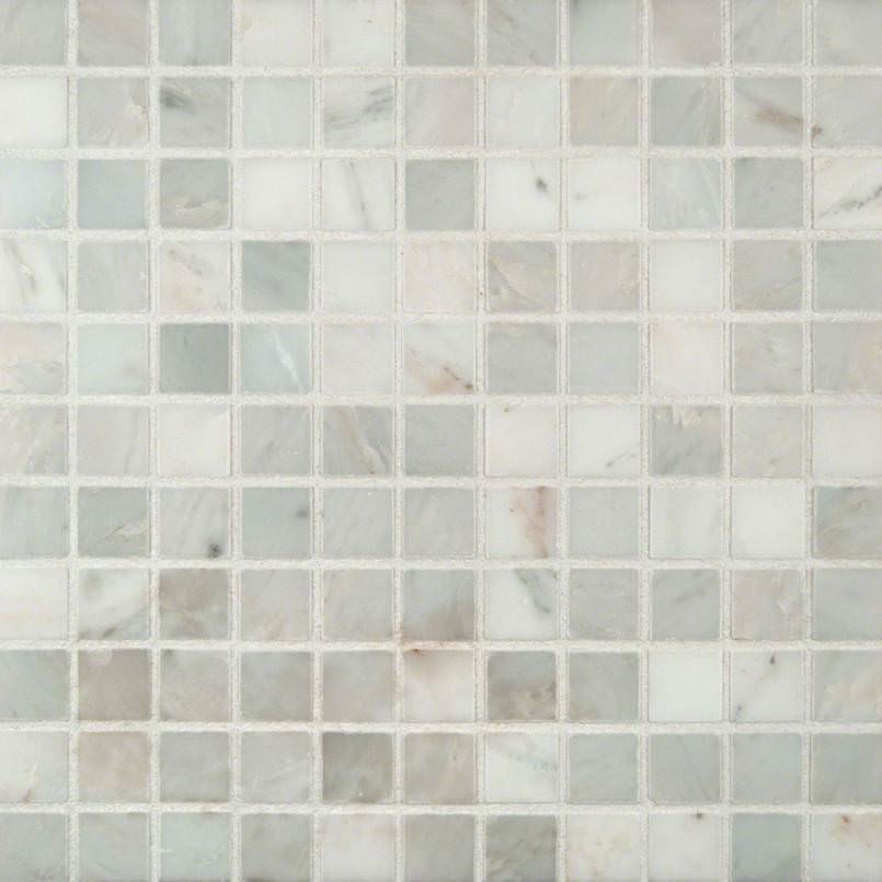 Arabescato Carrara 1×1 Honed In 12×12 Mesh