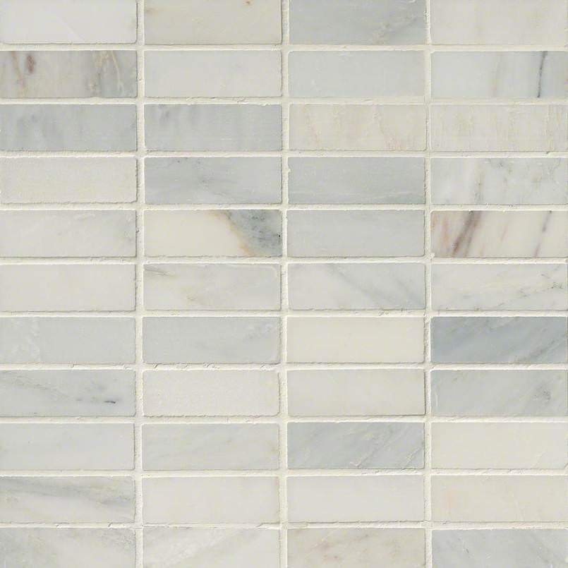 Arabescato Carrara 1×3 Honed In 12×12 Mesh