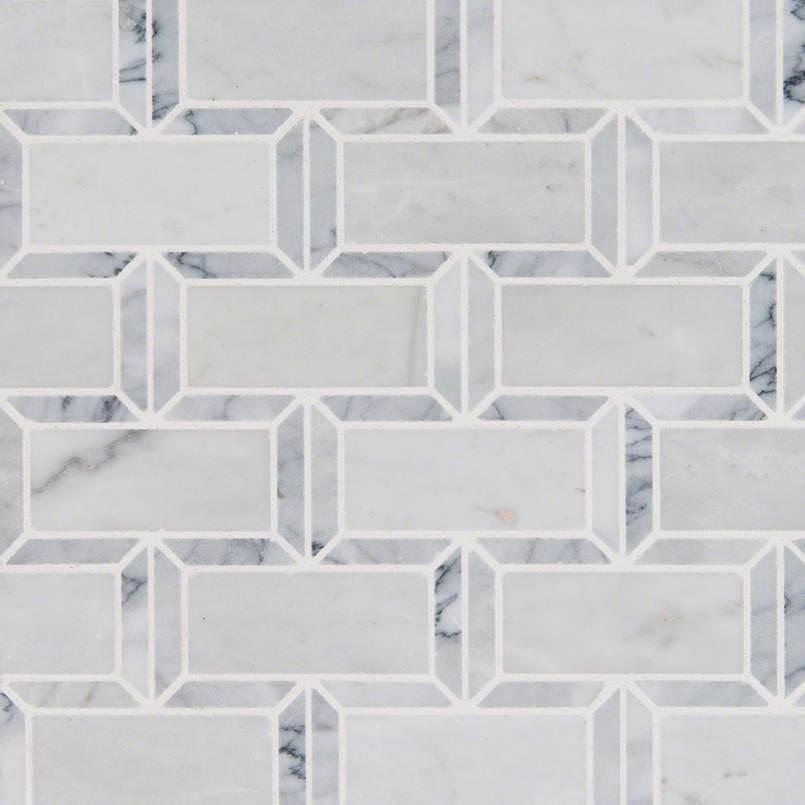 Arabescato Carrara Subway Tile Polished 2×4