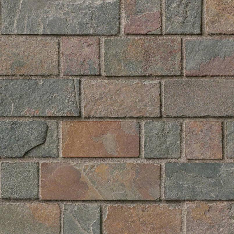 California Gold Tumbled Brick Pattern In 12×12 Mesh