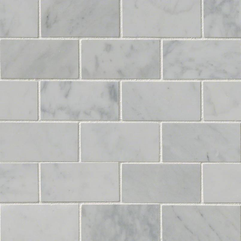 Carrara White 2×4 Polished