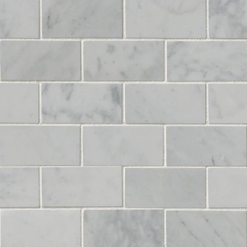 Carrara White 2×4 Polished