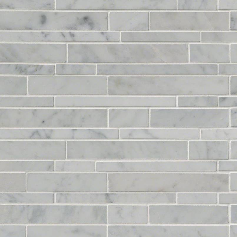 Carrara White Rsp Interlocking Pattern Polished