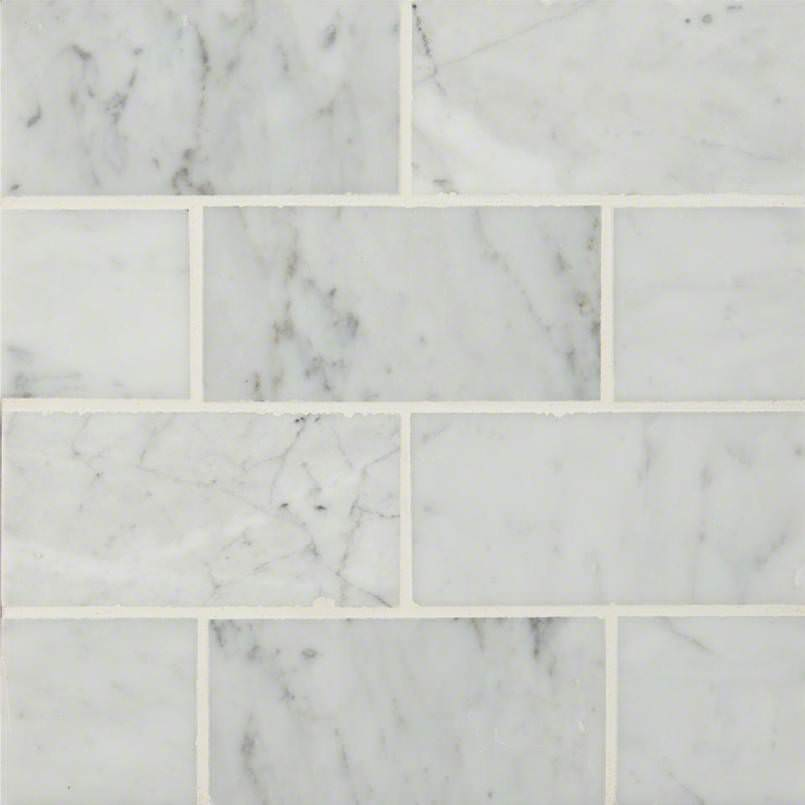 Carrara White Subway Tile 3×6