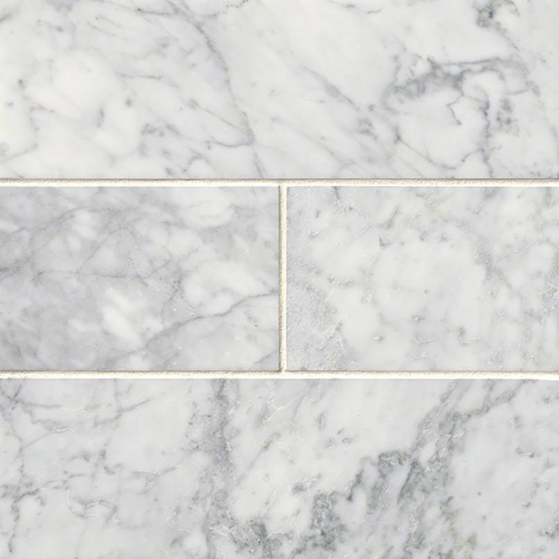 Carrara White Subway Tile 4×12
