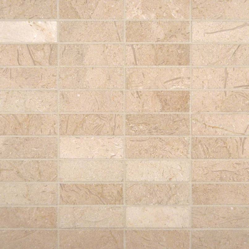 Crema Marfil 1×3 Polished In 12×12 Mesh