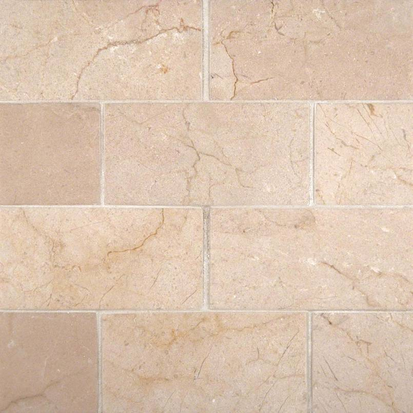 Crema Marfil Subway Tile Honed 3×6