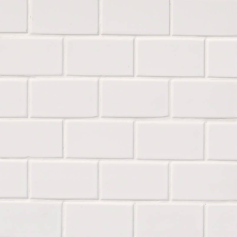 Domino White Glossy Subway Tile 2×4