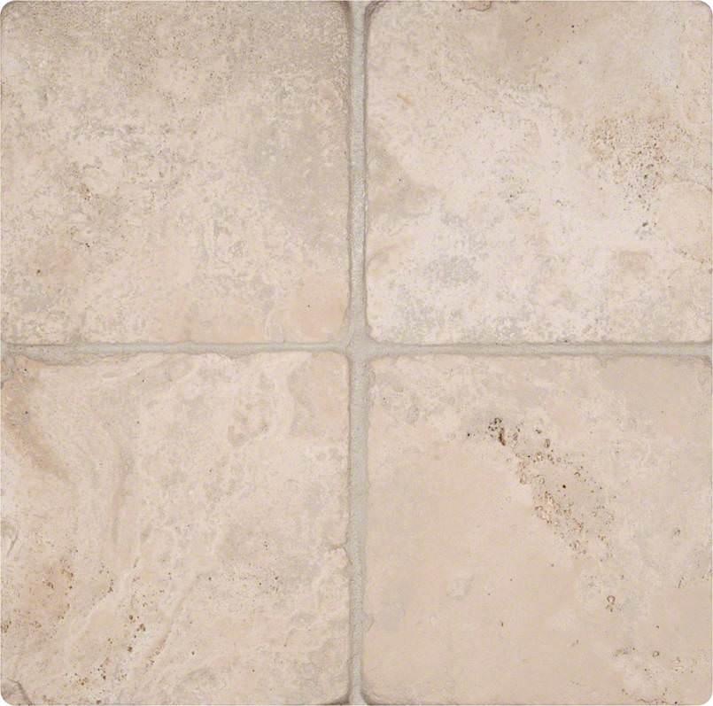 Durango Cream 6×6 Tumbled Tile