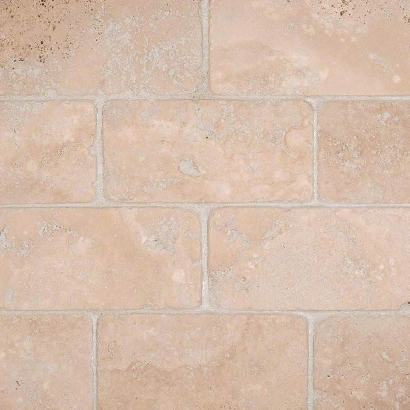 Durango Cream Subway Tile Tumbled 3×6