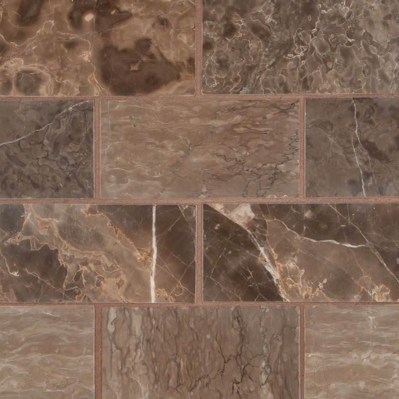 Emperador Cafe 3×6 Polished And Beveled Tile