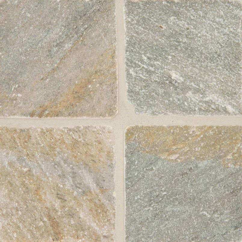 Golden White Quartzite 6×6 Tumbled And Gauged Tile