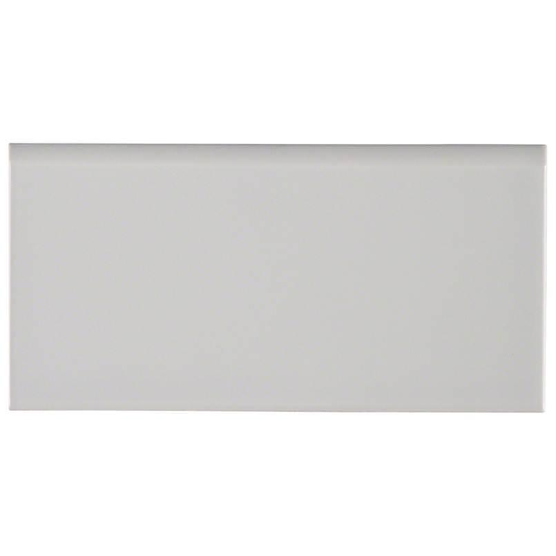 Gray Glossy 3×6 Single Bull Nose