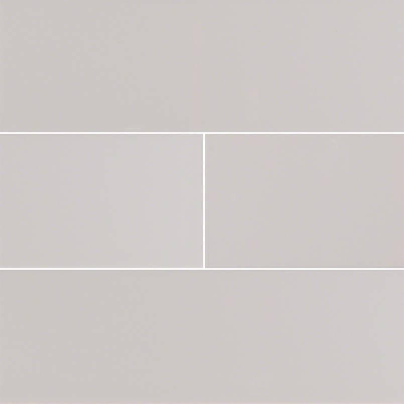Gray Glossy Subway Tile 4×16