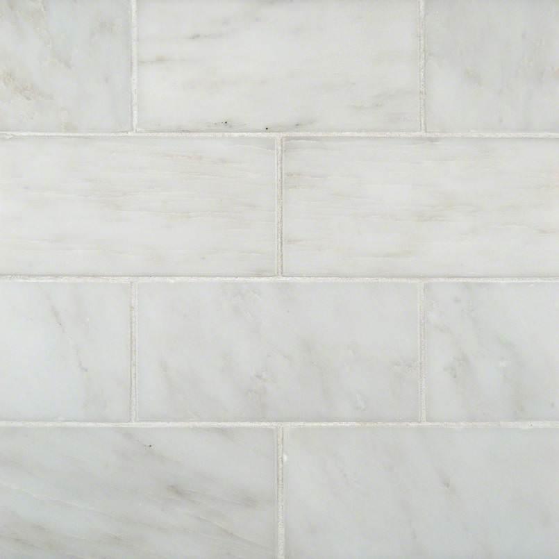 Greecian White Marble Subway Tile 3×6