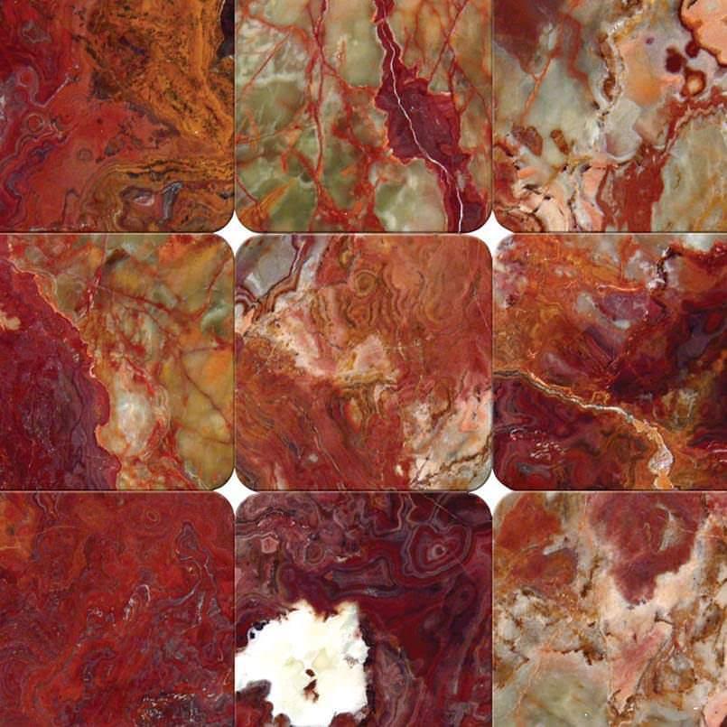 Red Onyx 4×4 Tumbled Tile
