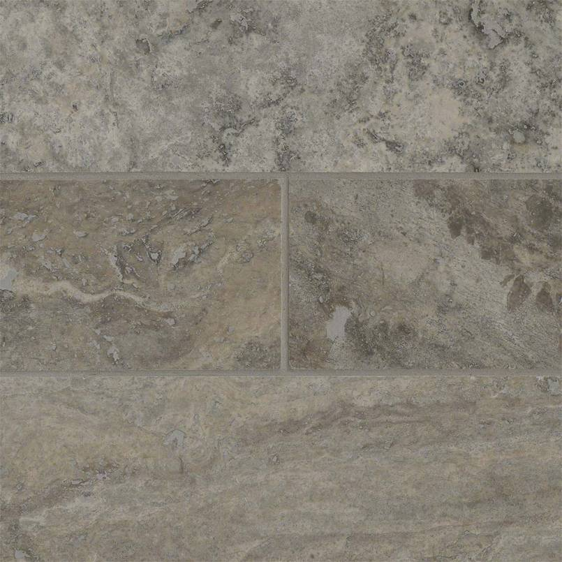 Silver Travertine Subway Tile 4×12