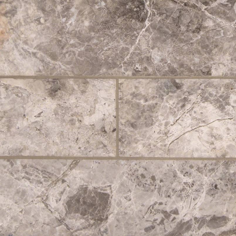 Tundra Gray Marble Subway Tile 4×12