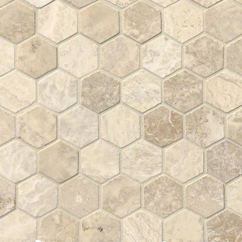 Tuscany Alabastrino 2″ Hexagon Honed And Filled