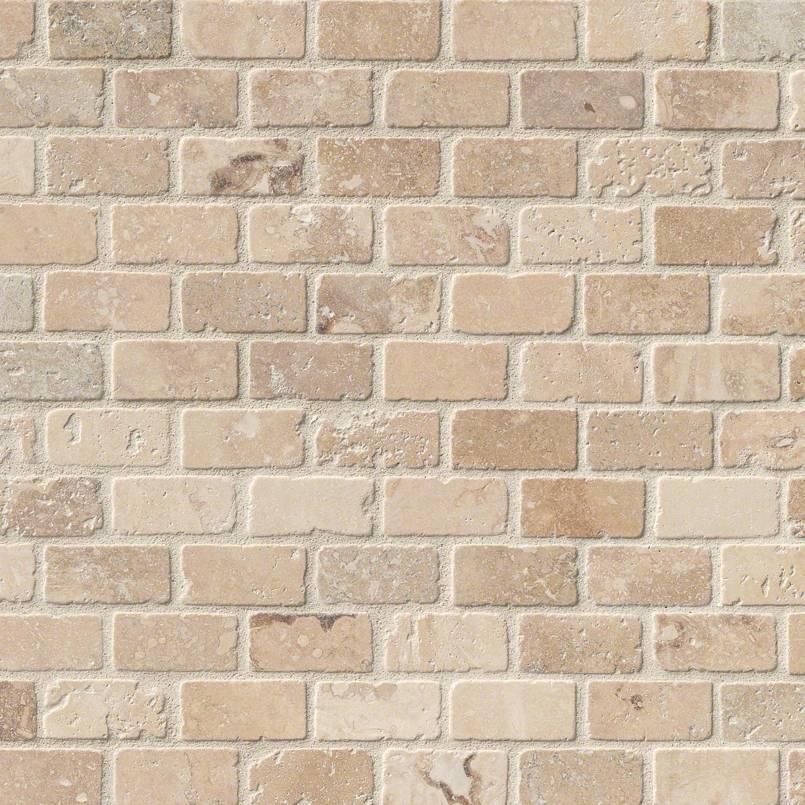 Tuscany Classic 1×2 Brick Tumbled In 12×12 Mesh