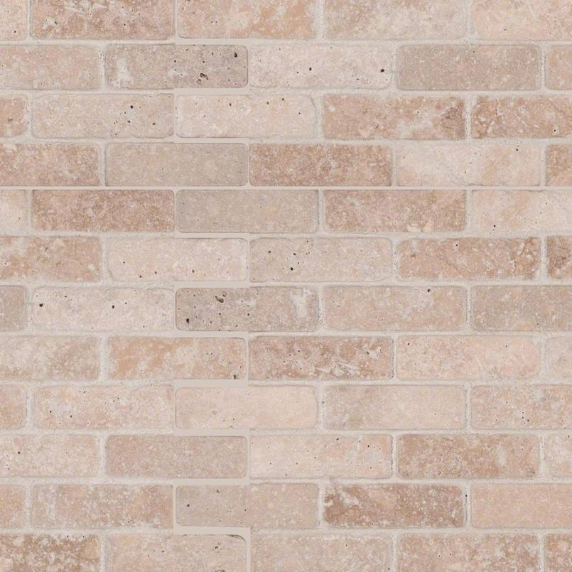 Tuscany Classic 1×3 Tumbled In 12×12 Mesh
