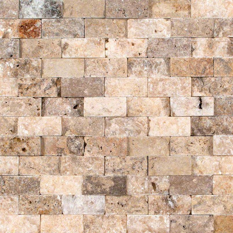 Tuscany Scabas 1×2 Split Face In 12×12 Mesh