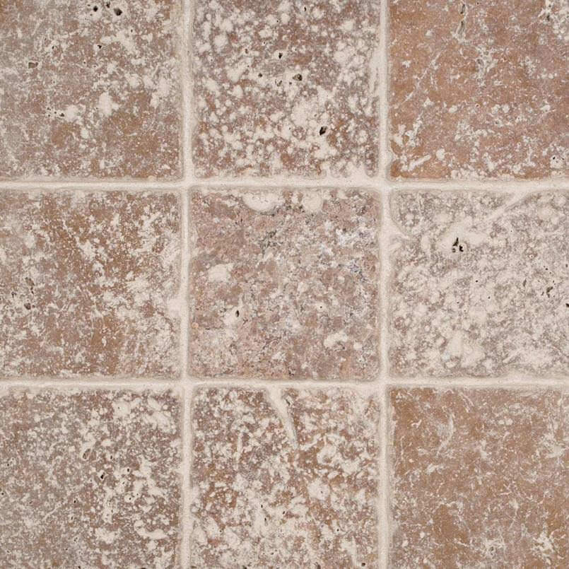 Tuscany Walnut 4×4 Tumbled Tile
