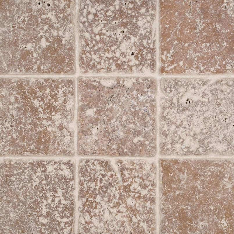 Tuscany Walnut 4×4 Tumbled Tile