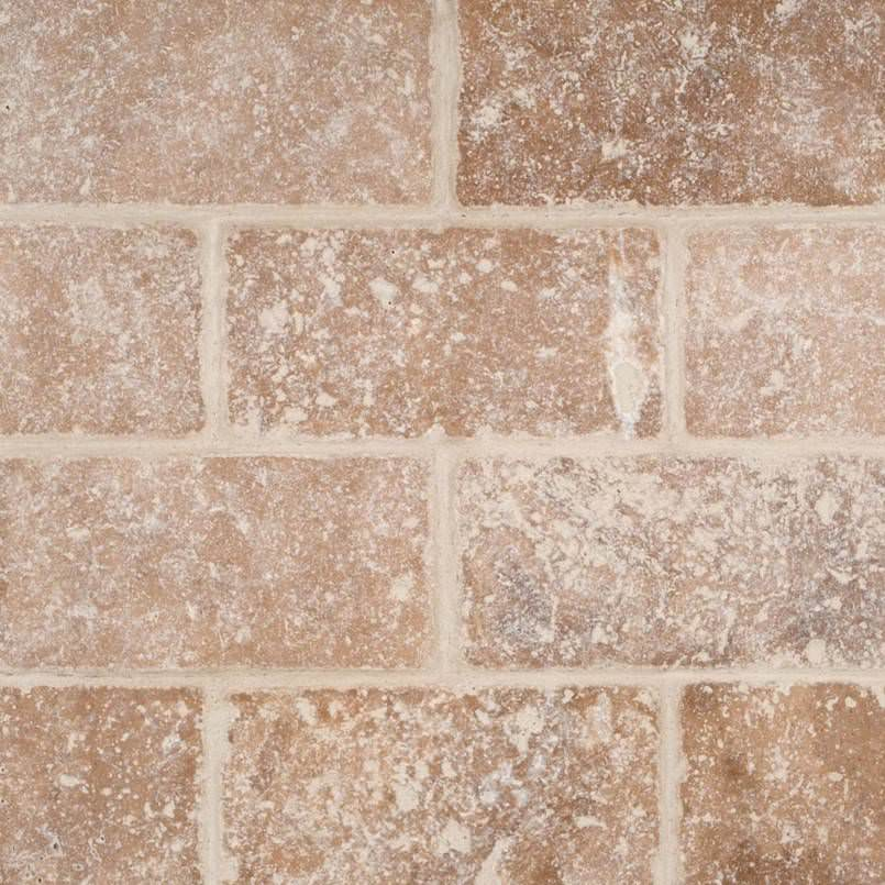 Tuscany Walnut Subway Tumbled Tile 3×6