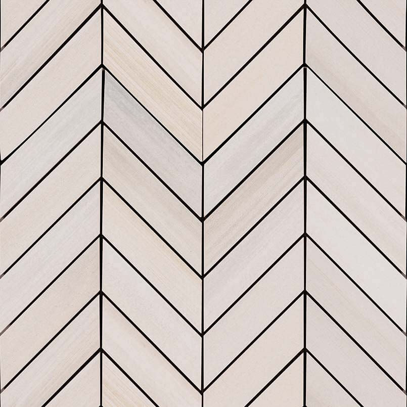 Watercolor Bianco Chevron Mosaic 12×15