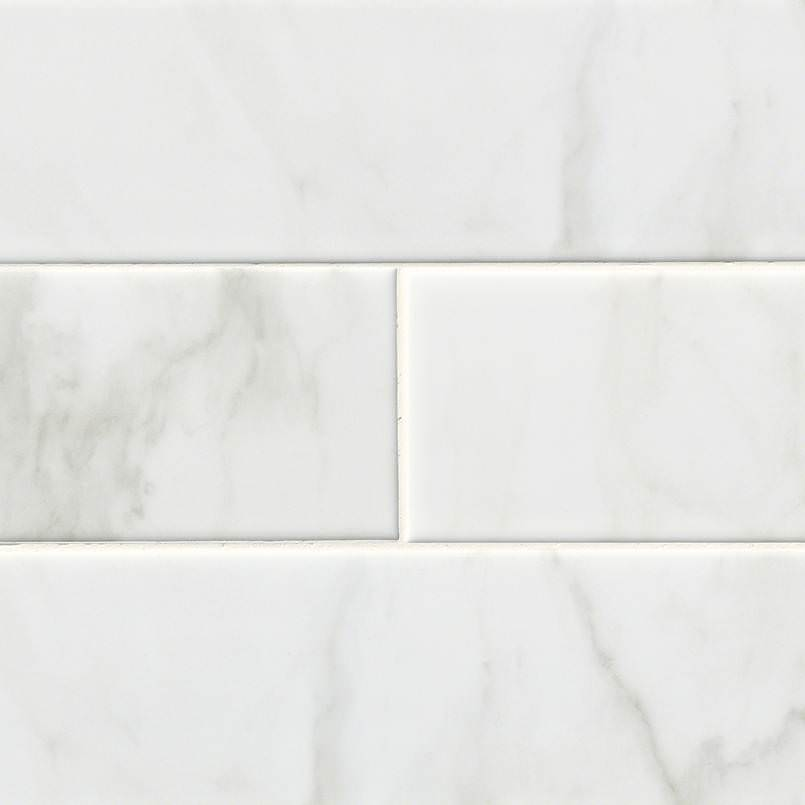 White Carrara Subway Tile 4x16