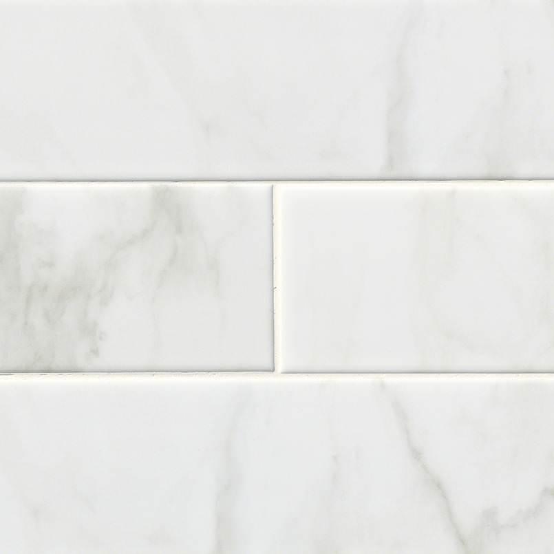 White Carrara Subway Tile 4×16