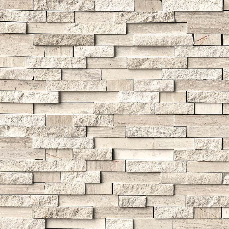 White Quarry Splitface Interlocking Pattern