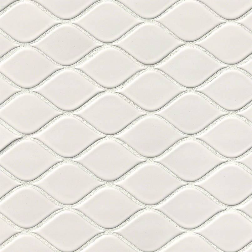 White Tear Drop Glossy Mosaic