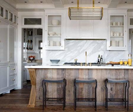Marble Countertops Dark Wood Floors