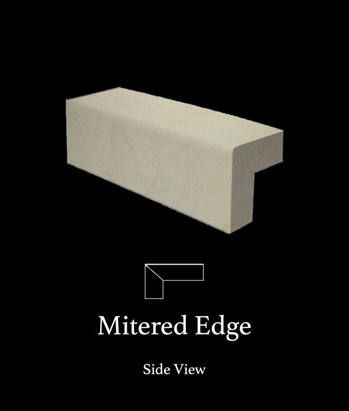 Mitered-edge