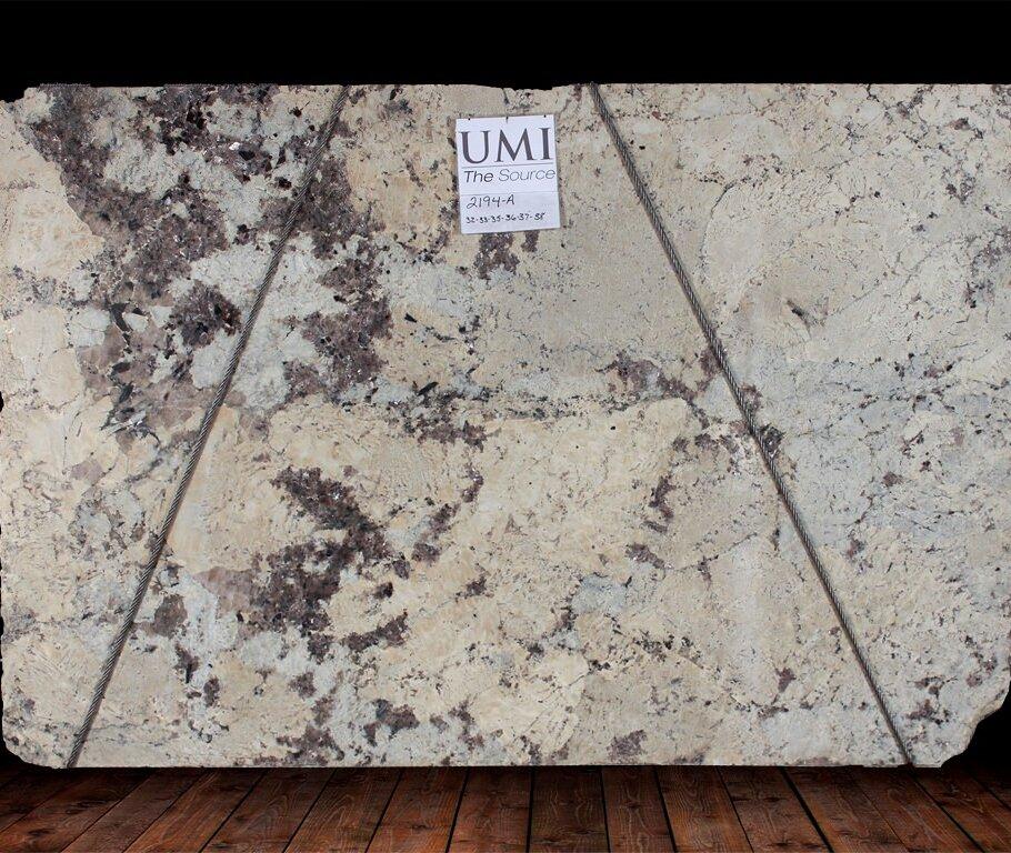 Alaska White Leather Finish Granite