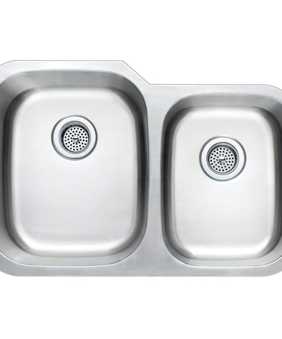 Stainless Steel 60/40 Undermount Sink