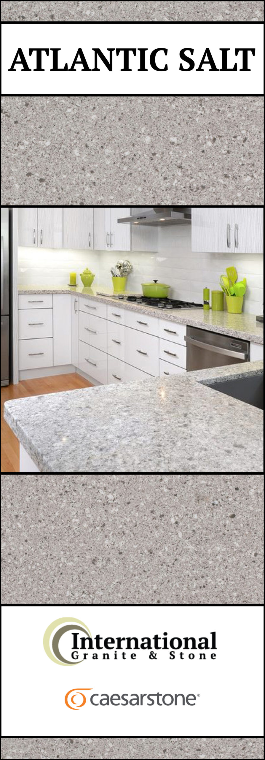 Atlantic Salt Caesarstone Quartz Full Slab Pinterest