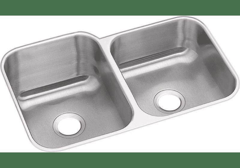Dayton Stainless Steel 31-3/4″ X 20-1/2″ X 10″ Offset Double Bowl Undermount Sink
