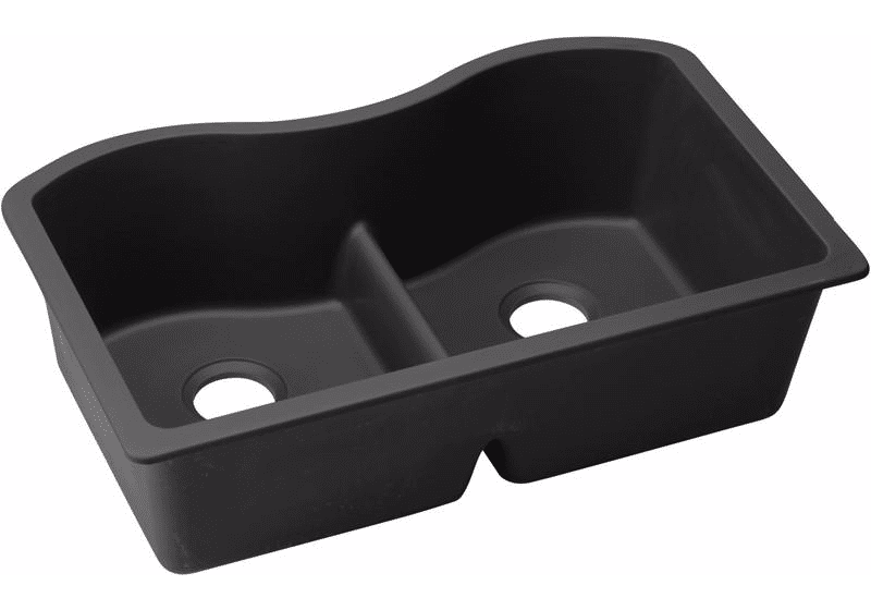 Elkay Quartz Classic 33″ X 20″ X 9-1/2″ Equal Double Bowl Undermount Sink With Aqua Divide