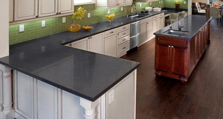 Raven Caesarstone Quartz Kitchen