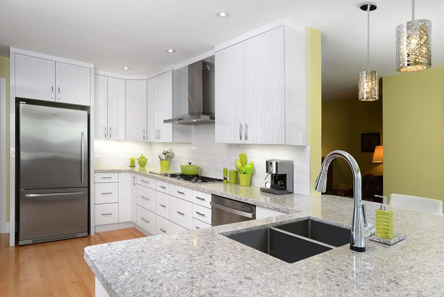 Atlantic Salt Caesarstone Quartz Kitchen Countertops