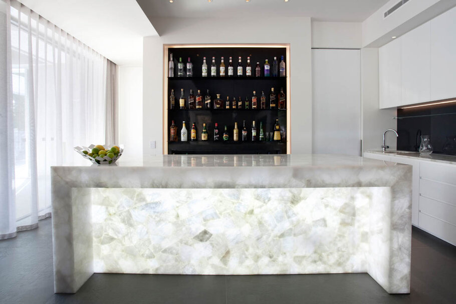 Caesarstone Puro Quartz Countertops Backlit