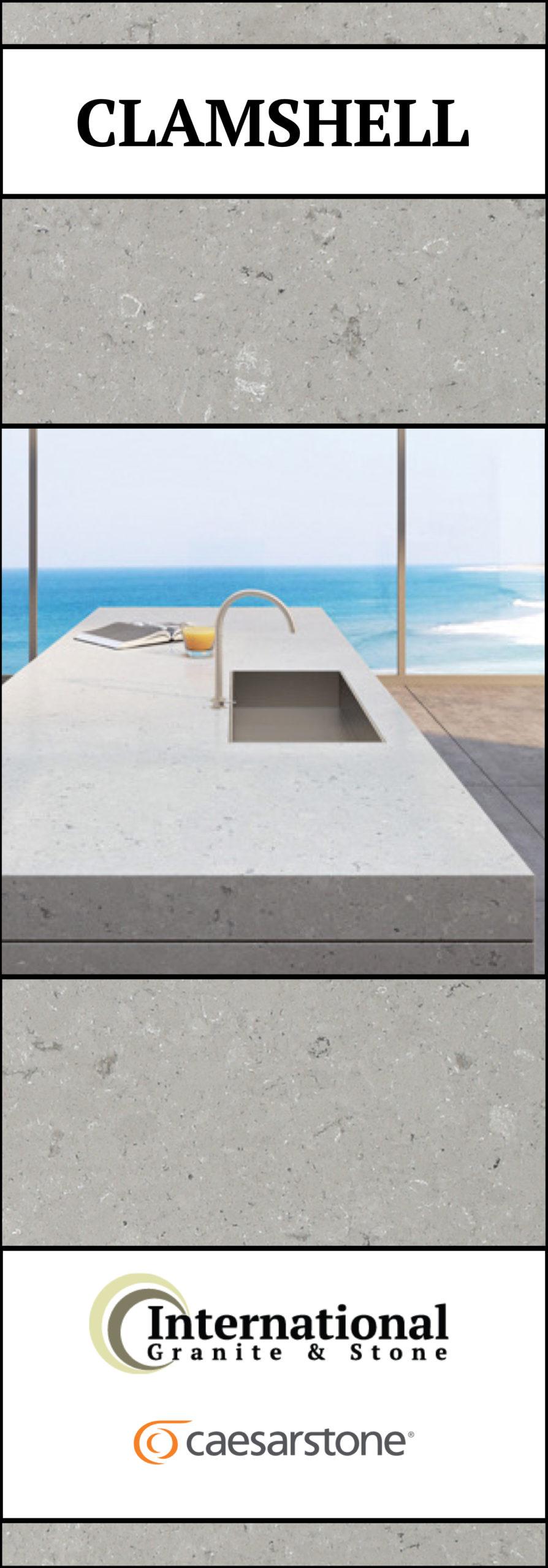 Clamshell Caesarstone Quartz Full Slab Pinterest