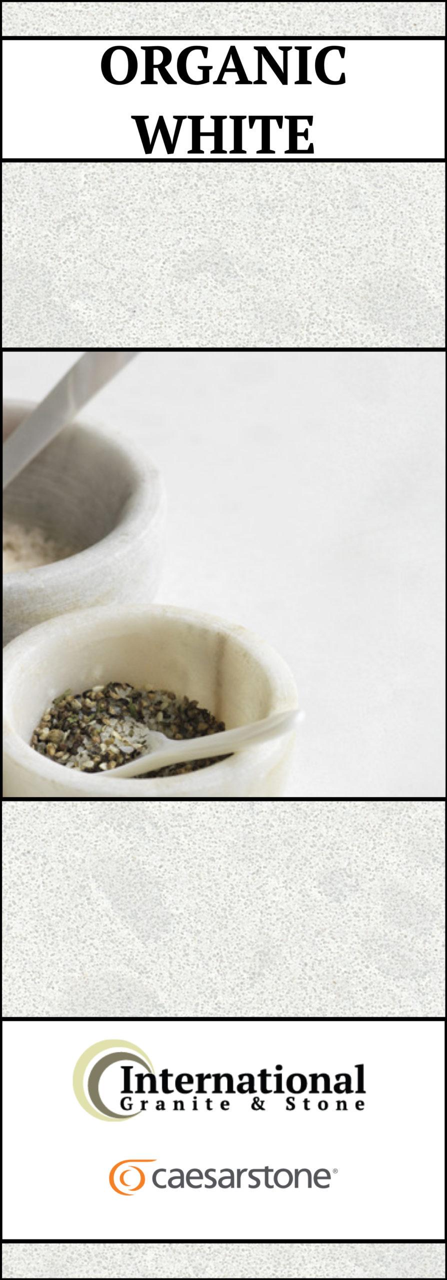 Organic White Caesarstone Quartz Full Slab Pinterest