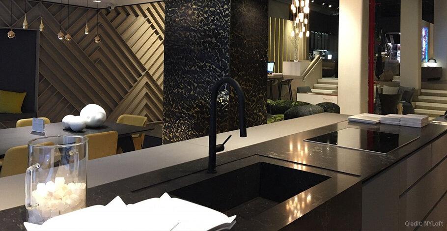 Vanilla Noir Caesarstone Quartz Kitchen